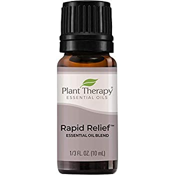 Plant Therapy Rapid Relief Essential Oil Blend 10 mL  1/3 oz  Pain and Soreness Blend 100% Pure Undiluted Natural Aromatherapy Therapeutic Grade