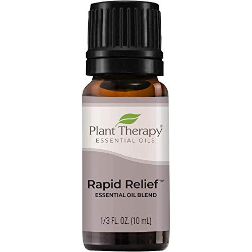 Plant Therapy Rapid Relief Essential Oil Blend 10 mL (1/3 oz) Pain and...