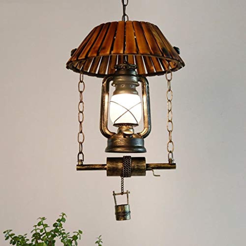 Unbekannt FEI Kronleuchter Vintage Pferd Lampen Petroleum Licht Eisen Kronleuchter Restaurant Kreative Wohnzimmer Bar Bambus Licht