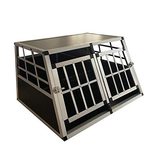 Generic te XX Gabbia per auto Pet Inium Travel Box vel Bo Double Dog Crate Inium Tran XXL alluminio g Crate trasportino trasportino cane X