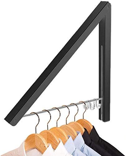 iNeego Perchero Pared, Aluminio Ropa Percha Plegable Colgador Triangular Ahorrar Espacio Colgador, Para Armario, Interior, Exterior, lavandería, Dormitorio, Balcón