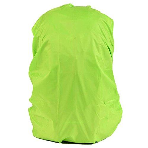Wasserdicht Regenschutz für Rucksäcke Rucksackschutz Ranzen Regenschutz Rucksackcover Regenüberzug Sicherheitsüberzug Reflektorüberzug 30l-40l - Grün