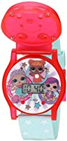 L.O.L. Surprise! Girls' Quartz Watch with Plastic Strap, Green, 19.5 (Model: LOL4006AZ)