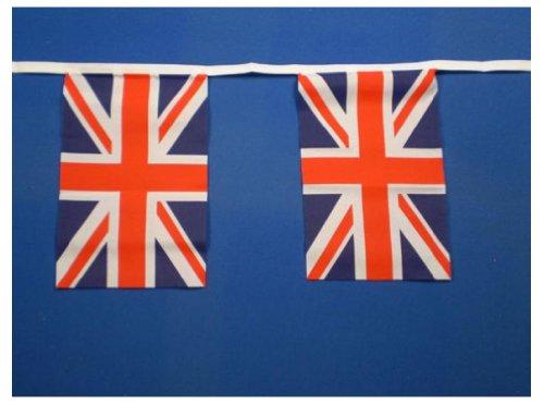 Banderole à fanions en Polyester Union Jack 9 m