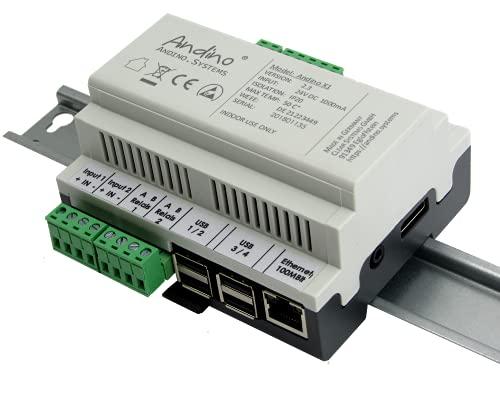 Industrial Raspberry Pi 3B+ PC mit 7 digitalen Eingängen, 2 Relays, RTC – Andino X1 mit SD Karte
