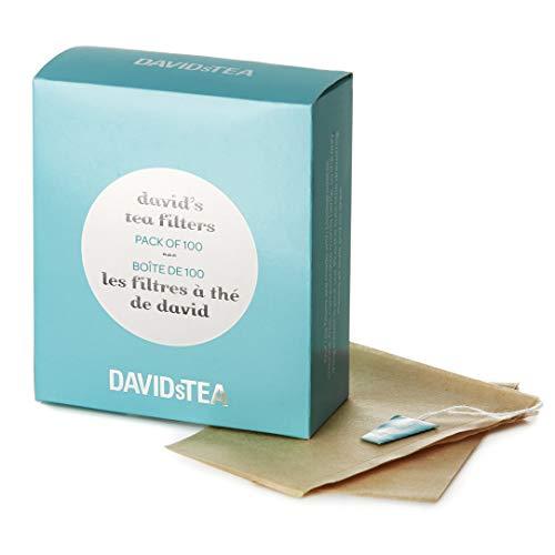 DAVIDsTEA Tea Filters, Drawstring Teabags for Loose Leaf Tea, OXO-Biodegradable, Pack of 100