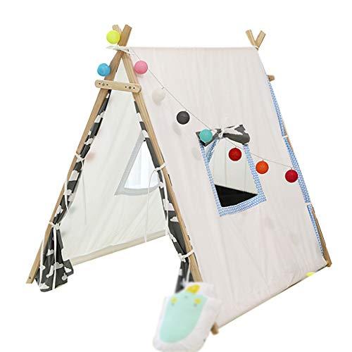C-J-Xin Fashion Children's Tent Prinses van het meisje Castle Planken Triangle Tent Rood Grijs Gordijn Household Kleding Rekken Kids Toy Tent (Color : A, Size : 120 * 100 * 115CM)