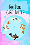 Koi Pond Care Notes: Customized Compact Koi Pond Logging Book, Thoroughly Formatted, Great For Tracking & Scheduling Routine Maintenance, Including Water Chemistry, Fish Health & Much More (120 Pages)