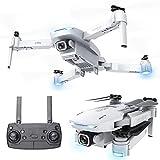 JJDSN Quadcopter 4K, función de posicionamiento GPS para Interiores y Exteriores, Control Remoto para Aviones, fotografía aérea HD, batería de 7.4V 1200mAh, Vuelo, Seguimiento de Dedos, 2.4g