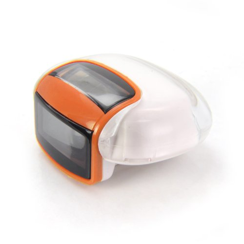 Incutex solar Schrittzähler Kalorienmesser, Pedometer mit LCD Display, Stepcounter, Schrittmesser in orange