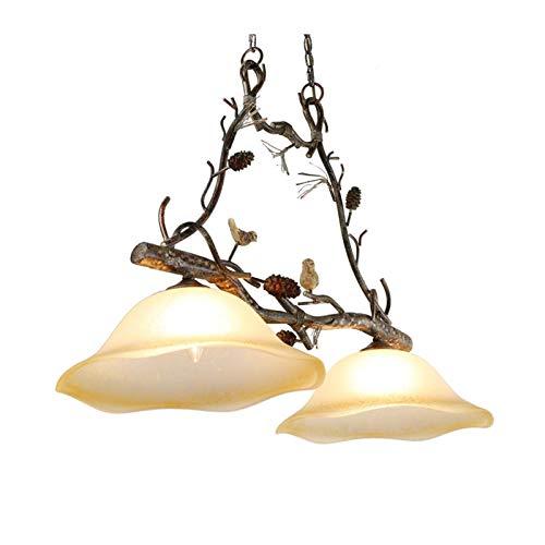 FFF-Iluminación de Techo Interior Estilo Industrial lámpara de araña Dos Extremos Retro-Hierro Forjado Cafe/Comedor/Sala de Estar/pájaro de la lámpara Nivel de energía 【A ++】