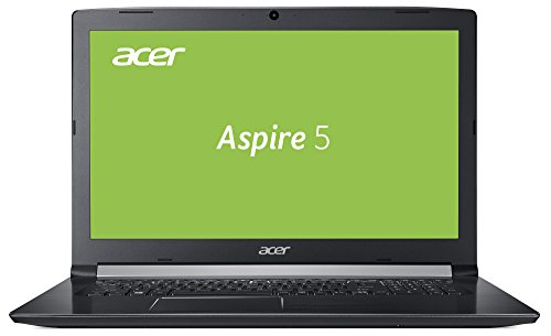 Acer Aspire 5 (A517-51-3666) 43,9 cm (17,3 Zoll Full-HD matt) Multimedia Laptop (Intel Core i3-7020U, 8GB RAM, 256GB SSD, Intel HD, Win 10) schwarz