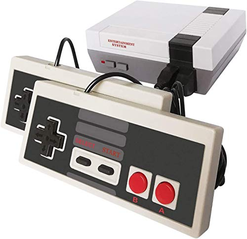 STONELAND Old School Video Game Console, 620 Built in Games with Two Controllers Plug and Play AV Output All Retro Video Games