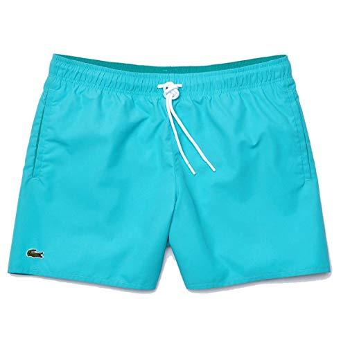 Lacoste Herren MH6270 Badeshorts, Männer Beachshorts,Badehose,Schwimmhose, Regular Fit,CICER/Niagara Blue(PM7),X-Large (XL)