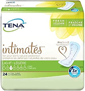 TENA Intimates Ultra Thin Light Pads Long, 24 Count - (Case of 6) by SCA Personal Care