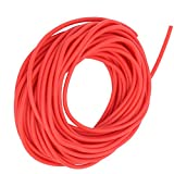 DAUERHAFT Tubo de Goma de látex de Color Brillante de Buena flexibilidad roja de 10M, Adecuado para competiciones Deportivas(1632)
