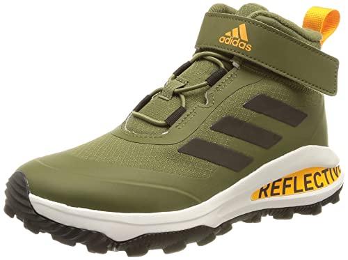 adidas Fortarun ATR EL K Running Shoes, Focus Olive/core Black/semi solar Gold, 37 1/3 EU