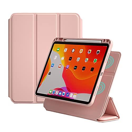 WYZDQ Funda Magnética Compatible con iPad Pro 11 Inch 2021, Funda Ultradelgada con Soporte Función Auto Sleep/Wake Up,Rosado