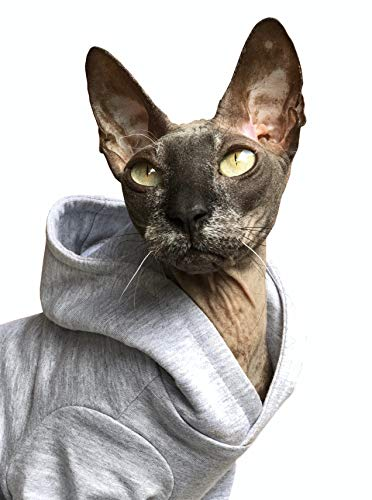 Kotomoda Vetements pour Chat Hoodie ATHOME (S)