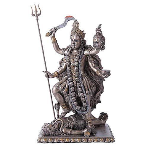 Eastern Enlightenment Goddess Kali Bhavatarini  Destroyer Statue Decorative Hindu Goddess of Time and Death Figurine