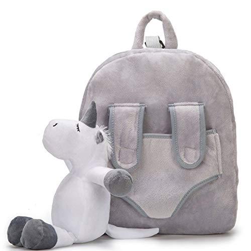 Plüsch Einhorn Rucksack -WENTS Kindergartenrucksack for Kinder Baby, Samt Weiche Rucksack Kleinkind Kinder Rucksäcke Niedliche Plüsch Kleine Mädchen Jungen Tier Rucksäcke Geschenke