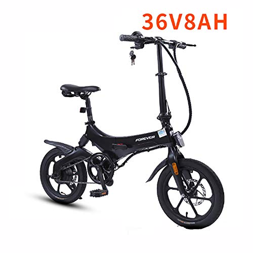 Macro Folding Electric Bike Lightweight Foldable Compact eBike For Commuting & Leisure - 2 Wheels, Rear Suspension Pedal Assist Unisex Bicycle 250W / 36V,5