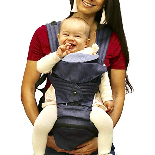 Mamapod All-Position Baby and Toddler Carrier with Hip Seat, Blue