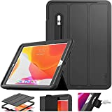 SEYMAC stock Case for iPad 8th/7th Generation, New iPad 10.2 Inch 2020/2019 Case Smart Magnetic Auto Sleep Cover Leather with Stand Feature for New iPad 8/7 10.2 2020/2019 Release (Black)