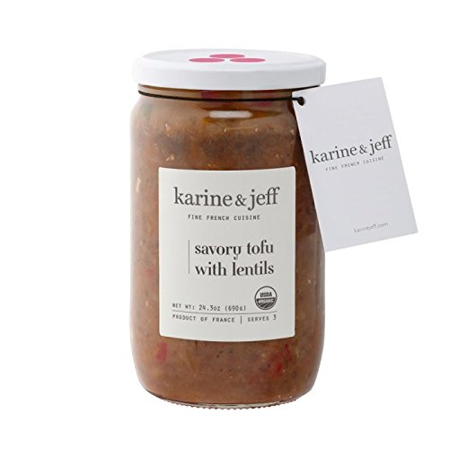 Karine & Jeff Savory Tofu with Lentils - Organic - Gluten Free - Vegan Ingredients | 24.3 oz