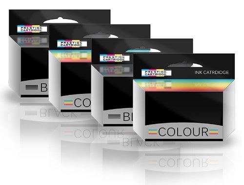 Prestige Cartridge Canon PG511 CL512 - Pack de 4 cartuchos de tinta remanufacturados, tricolor y negro