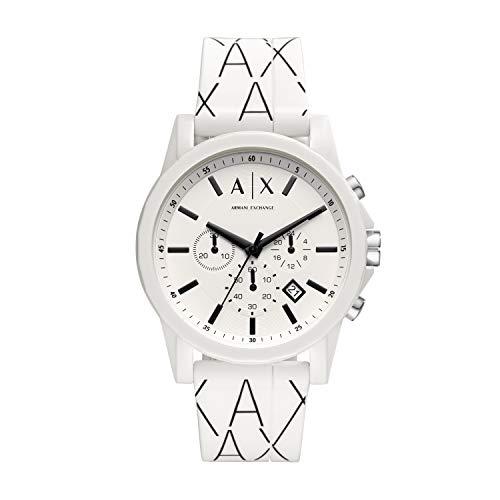 Armani Exchange Reloj Cronógrafo para Hombre de Cuarzo con Correa en Silicona AX1340