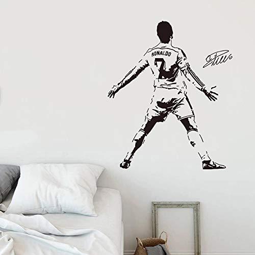 WERWN Etiqueta de la Pared de la Sala de Estar de Cristiano Ronaldo de la Estrella del fútbol de la Pared Deportiva