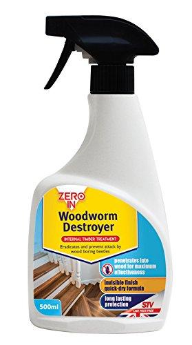 Zero In Woodworm Destroyer Ready to Use Spray, 500 ml