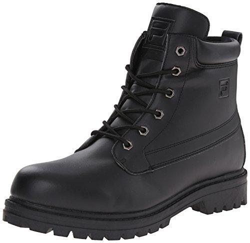 Fila mens Edgewater 12-m hiking boots, Black/Rock, 9.5 US