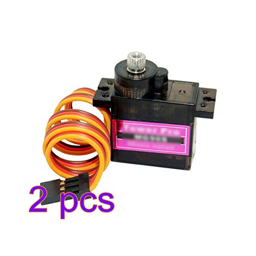 Winbang Micro-Servo, Metal Gear Upgraded SG90 Digitale Micro-Servos für Smart Vehicle Helicopter Boart Car MG90S 9g (Packung mit 2)