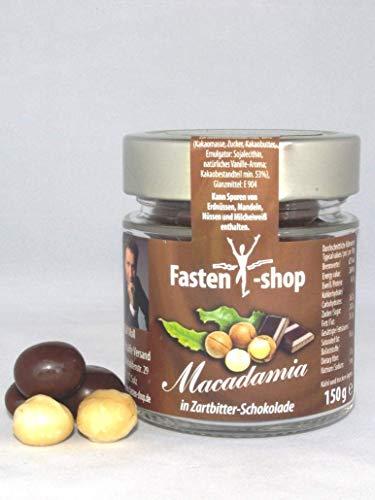 Ralf Moll Macadamia-Glückskugeln, 2er Pack 2x150g Macadamia-Nüsse in Zartbitterschokolade im Glas