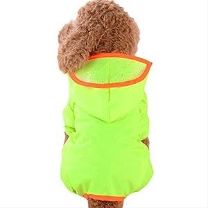 LYXL Manteau Chien Imperméable Respirant Confortable Chien De Protection Animal Pet Vêtements Imperméables Combinaison Vêtements pour Petits Chiens en Plein Air À Capuche Chiot Veste