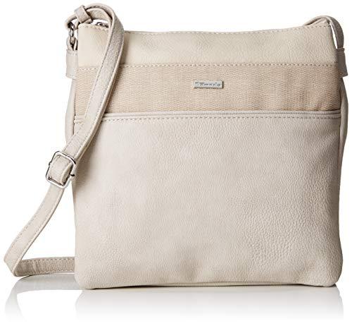 Tamaris Damen Khema Crossbody Bag M Umhängetasche, Beige (Pepper Comb), 2.5x24x25 cm