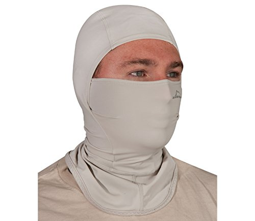 Glacier Glove Breathable Sun Hood, Light Gray