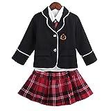 iiniim 4Pcs Uniformes Scolaires Japonais Enfant Fille Halloween Déguisement Écolière...