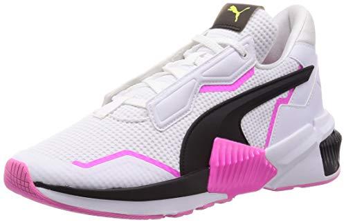 PUMA Damen Provoke XT WN\'s Gymnastikschuh, White Black-Luminous Pink, 41 EU