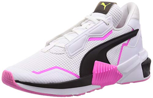 PUMA Damen Provoke XT WN\'s Gymnastikschuh, White Black-Luminous Pink, 41 EU