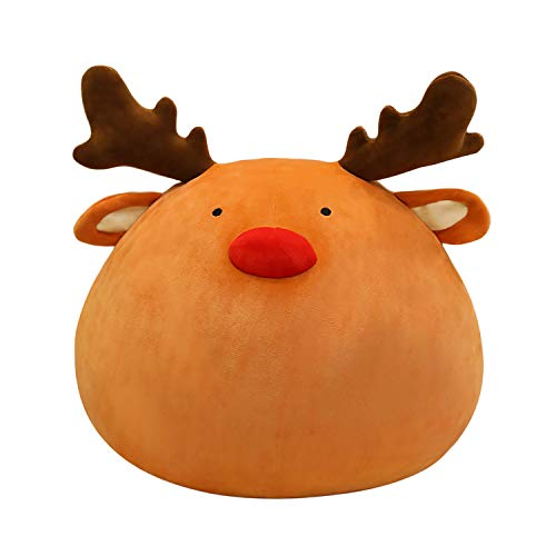 Onsoyours Elk Stuffed Animal, Cute Reindeer Plush Toy with Big Pocket, Plush Pillow for Boys and Girls 15.7