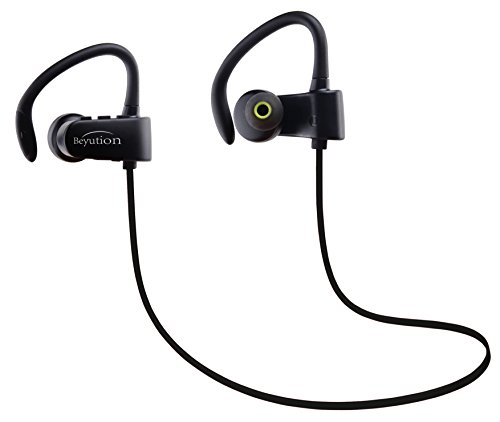 Beyution Wireless Headphones Bluetooth Sport Headset Stereo Noise Cancelling Sweatproof Headset Earphone Built-in Micphone for iPhone Samsung Galaxy and Andoid Smartphones