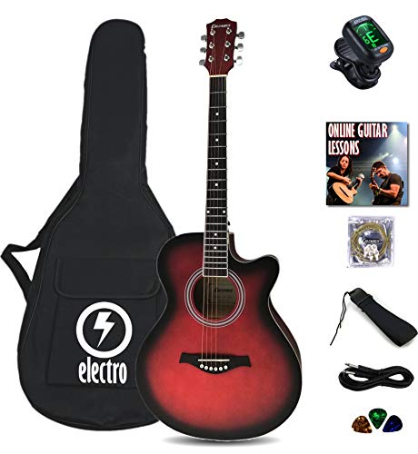 electro electric acoustic guitar bundle beginner package Columbus 40'...