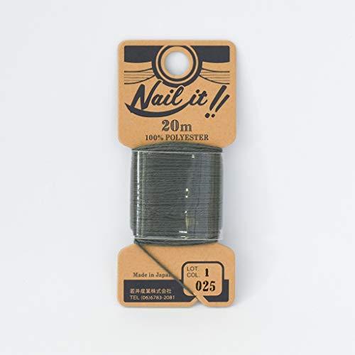 若井産業 ネイルイット用ストリング糸 約20m グレー 1巻 NL02520