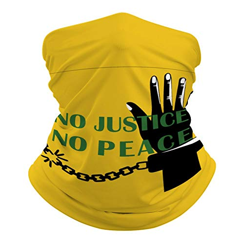 No Justice No Peace bufanda versátil para la cabeza, boca, esposas impresas, mágico escudo de hippie con atadura para el cuello, resistente al sol, al aire libre, 19.6' de largo x 9.8' de ancho l4pmh3z1l8pt