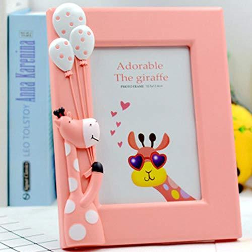 Piore Cute Cartoon Giraffe Creative Tafelblad Frame Woondecoratie Fotowand Kinderen Baby Plastic Fotolijst, Groen