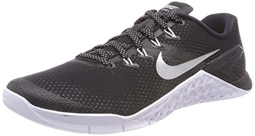 Nike Women's Metcon 4 Training Shoe Black/Metallic Silver-White-Volt Glow 10.0