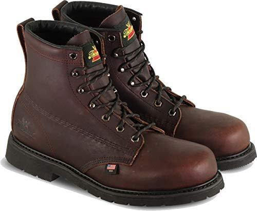"Thorogood 804-3406 Men's Oil Rigger 6"" Safety Toe Boot, Black Walnut - 8.5 3E US"